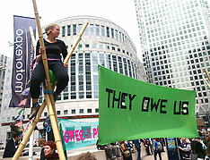 JUNE 14 2013 G8 Demonstration in Canary Wharf