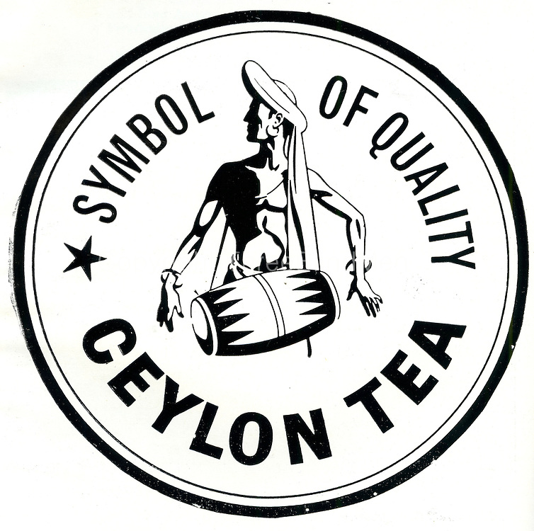 Ceylon Tea. Drummer logo.
