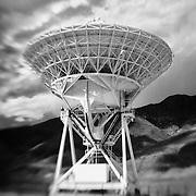 Radio Telescope - North Owens Valley - Lensbaby - Infrared Black & White