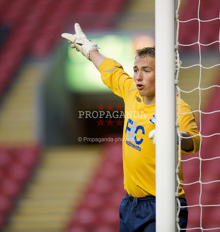 LIVERPOOL, ENGLAND - Friday, April 24, 2009: Birmingham City's goalkeeper Dean Lyness during the FA Youth Cup Semi-Final 2nd Leg match at Anfield. (Pic by David Rawcliffe/Propaganda)