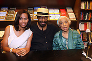"l to r: Pamela Newkirk, Anthony Chisholm and Ruby Dee at the reading of ' Letters from Black America "" A Dramatic Reading with Editor Pamela Newkirk and actors Ruby Dee and Anthony Chisholm held at Barnes & Noble at 82nd Street on July 15, 2009 in New York City"
