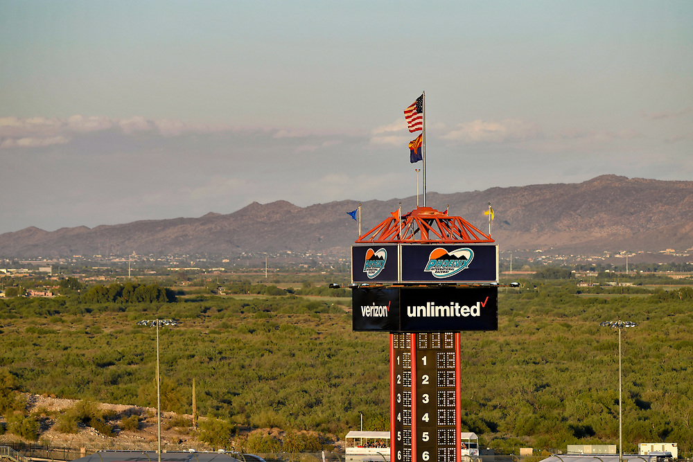 Verizon IndyCar Series<br /> Desert Diamond West Valley Phoenix Grand Prix<br /> Phoenix Raceway, Avondale, AZ USA<br /> Saturday 29 April 2017<br /> Scoring pylon, atmosphere<br /> World Copyright: Scott R LePage<br /> LAT Images<br /> ref: Digital Image lepage-170429-phx-3182