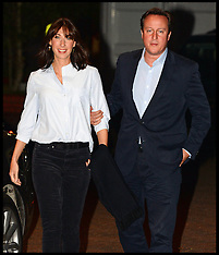 SEP 27 2014 David Cameron arrives at the Conservative Party Conference