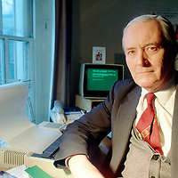 Tony Benn in his office, London<br /> Photographed in 1989<br /> <br /> Picture by Flo Smith<br /> <br /> <br /> WORLD RIGHTS