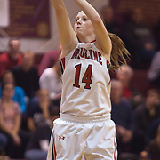 12/27/11 Wilmington DE: Ursuline Academy Forward Brenna Williams #14 takes the outside shot during a Diamond State Classic game Tuesday Dec. 27, 2011 at St. Elizabeth High School High School in Wilmington Delaware...Special to The News Journal/SAQUAN STIMPSON
