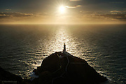 Late afternoon sunlight at South Stack lighthouse, North West Anglesey.