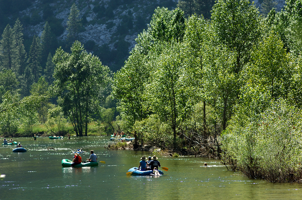 Floating on the Merced River at Yosemite Valley, Yosemite National Park, California, United States of America