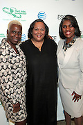 April 7, 2012 New York, NY:  (L-R)Television Executive Olivia Smashum, Honoree Tanya Leah Lombard, VP, Public Affairs, AT&T, Gerri Warren Merrick, president, Greater New York Chapter, Links, Inc attends the 62nd Annual Women of Distinction Spirit Awards Luncheon & Fashion Show sponsored by The Links, Inc- Greater New York Chapter held at Pier Sixty at Chelsea Piers on April 7, 2012 in New York City...Established in 1946, The Links,  incorporated, is one of the nation's oldest and largest volunteer service of women, linked in friendship, are committed to enriching, sustaining and ensuring the culture and economic survival of African-American and persons of African descent . The Links Incorporated is a not-for-profit organization, which consists of nearly 12, 000 professional women of color in 272 located in 42 states, the District of Columbia and the Bahamas. (Photo by Terrence Jennings)