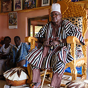 Naa Puowele Karbo III, Paramount Chief of the Lawra Traditional Area at his palace in Lawra on 24 June 2015.