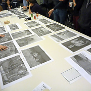 Public editing of the Mira Mexico newspaper and exhibition project at the University of Toronto Latin American Studies program.<br /> (Credit Image: &copy; Louie Palu/ZUMA Press)