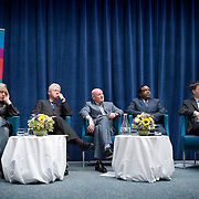 An agreement between the Department for International Development (DFID), the Governments of Rwanda and Malawi and Band Aid/The Hunter Foundation, and managed by the Clinton Hunter Development Initiative (CHDI) being launched at the DFID offices in London. In attendance was Secretary of State for International Development, Douglas Alexander, President Clinton, Sir Bob Geldof, Sir Tom Hunter, chairman of The Hunter Foundation, and representatives from the Rwandan and Malawi Governments.