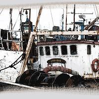 fineart image of ship in Dublin harbour