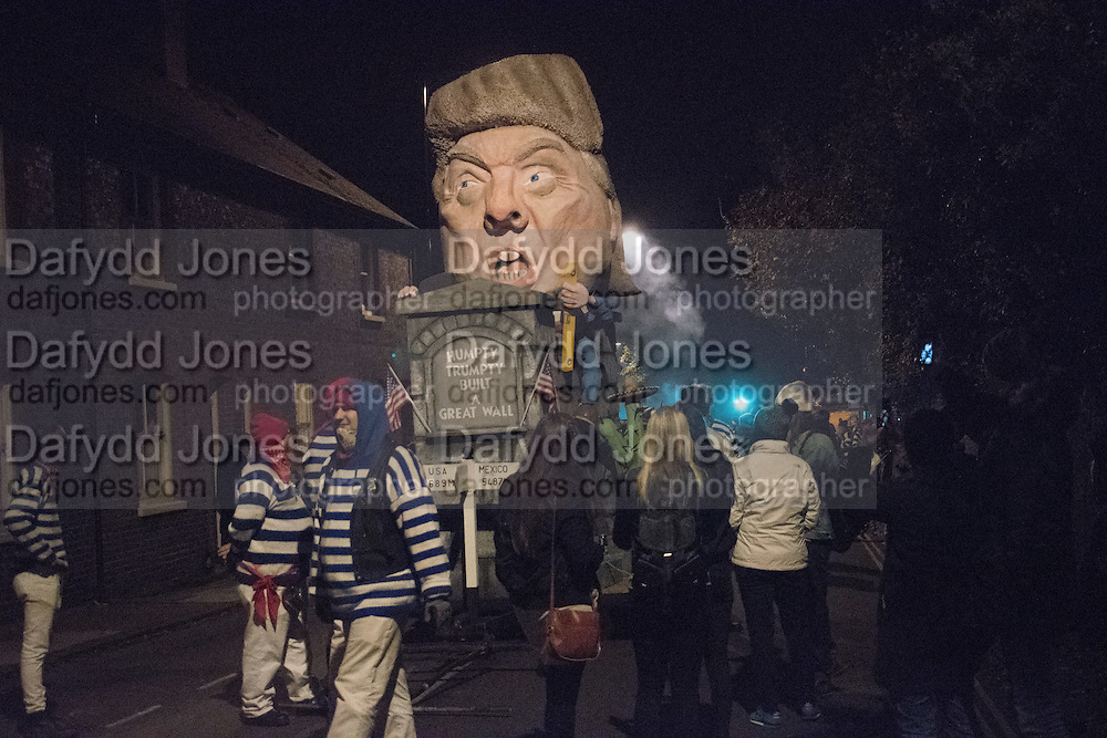 DONALD TRUMP EFFIGY, Lewes Bonfire Night Celebrations , November 5th 2016