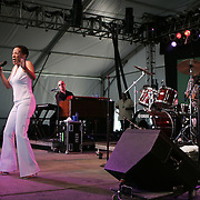 June 16, 2006; Manchester, TN.  2006 Bonnaroo Music Festival. Bettye LaVette performs at Bonnaroo 2006.  Photo by Bryan Rinnert