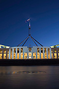 Australian Parliment House Canberra. From the front of the building at dusk (my version of a cover option?)