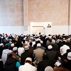 London, UK - 20 July 2012: More than 6500 Muslim faithfuls celebrate the first day of Ramadan in the East London Mosque, the largest in Britain.