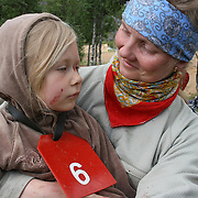 Laila Bergstrøm and daughter Sol (6).