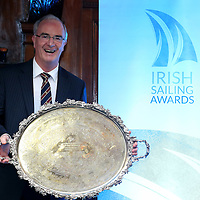 REPRO FREE***PRESS RELEASE NO REPRODUCTION FEE***<br /> Irish Sailing Awards, Royal College of Surgeons, Stephen's Green, Dublin 4/2/2016<br /> National Yacht Club sailor Liam Shanahan was named the 2015 Irish Sailor of the Year today at the Irish Sailing Awards in Dublin - Shanahan had a remarkable year, including victory in the Dun Laoghaire to Dingle race in June on his boat Ruth with two miles to spare.<br /> Kilkenny&rsquo;s Doug Elmes and Malahide&rsquo;s Colin O&rsquo;Sullivan jointly took home the Irish Sailing Association (ISA) Youth Sailor of the Year award. The Howth Yacht Club sailors were hotly tipped following their recent Bronze medal success at the 2015 Youth World Championships in Malaysia, where they took Ireland&rsquo;s first doublehanded youth worlds medal in 19 years.<br /> The Mitsubishi Motors Sailing Club of the Year award was presented to the Royal Irish Yacht Club in honour of their success at local, national and international level.<br /> Mullingar Sailing Club took home the ISA Training Centre of the Year award, having been nominated as winners of the western-region Training Centre of the Year.<br /> Pictured is  Anthony O'Leary, Sailor of the Month winner.<br /> Mandatory Credit &copy;INPHO/Cathal Noonan