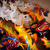 La festividad del Corpus Christi es una celebración conocida en Venezuela a través del ritual mágico-religioso de los Diablos Danzantes de Yare, que se celebra desde el siglo XVIII en San Francisco de Yare, en el estado Miranda. Cada jueves de Corpus Chirsti se hace una danza ritual de los llamados diablos, los cuales visten trajes coloridos (completamente de rojo), capas y máscaras de apariencia grotesca, además de adornos como cruces, escapularios, rosarios y otros amuletos, 08-06-2011. (ivan gonzalez)