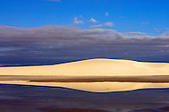 Early morning reflections of sand dunes at White Sands National Monument