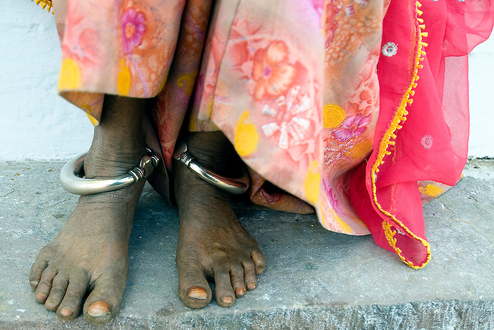 Many Rajasthani women wear anklets and other jewellery.