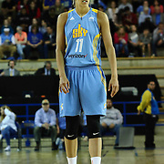 Chicago Sky Forward ELENA DELLE DONNE (11) sets up on defense in the first period of a WNBA preseason basketball game between the Chicago Sky and the New York Liberty Sunday, May. 01, 2016 at The Bob Carpenter Sports Convocation Center in Newark, DEL