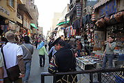 Khan el-Khalili is a major souk in the Islamic district of Cairo. The bazaar is one of Cairo's main attractions for tourists and Egyptians.