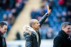Farid El Allagui on the pitch before the game. Falkirk 1 v 0 Dunfermline, 16/2/2013..©Michael Schofield.