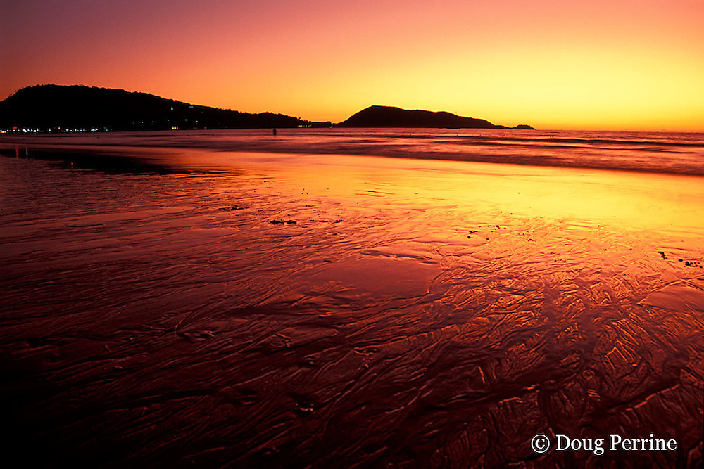 sunset at Patong Beach, Phuket Island, Thailand