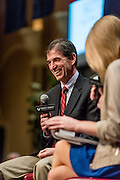 Gonzaga alumnus John Stockton was inducted into the WCC Hall of Honor in Las Vegas on March 4. (Photo by Zack Berlat)