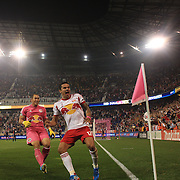 Tim Cahill celebrates his 97th minute equalizer for the New York Red Bulls