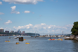 Hudson River kayaking in the Summer, NYC