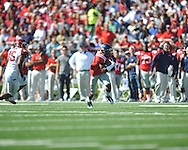 Ole Miss' Nickolas Brassell (2) vs. Arkansas at Vaught-Hemingway Stadium in Oxford, Miss. on Saturday, October 22, 2011. .