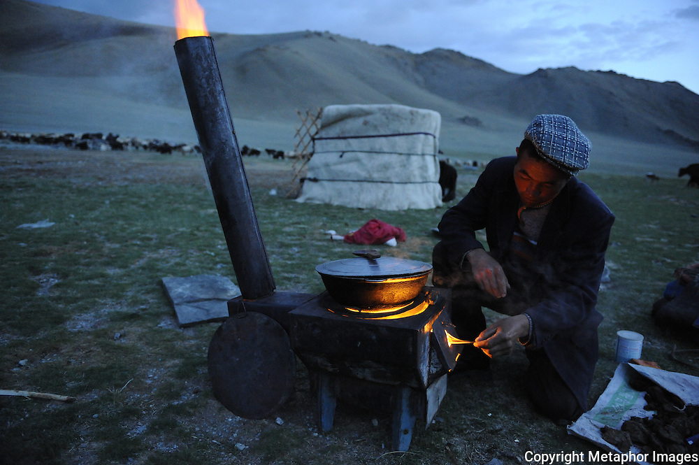 Kazakhs are descendants of Turkic and Mongol tribes and are pastoral nomads of the steppes of Kazakhstan and Mongolia. Most of the vast expanses of these countries are steppe; semi-arid land that is desolate and frozen in the winter and turns to lush, green meadow in mid-spring. The steppes are invaluable pastureland for the sheep, horses, cattle, and camels that are essential to the Kazakh people...The ancestors of modern-day Kazakhs were nomadic or semi-nomadic, and many of their customs reflect that lifestyle. Nowadays, people live mostly in cities and villages, although some still lead an agricultural life. The nomadic culture is under threat from these changes in priorities..