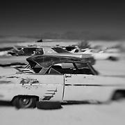 Dead Pink Thunderbird - Pearsonville, CA - Lensbaby - Infrared Black & White