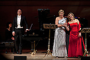 Soprano Renee Fleming and mezzo-soprano Susan Graham with pianist Bradley Moore perform at Carnegie Hall in New York, NY on January 27, 2013.