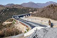 15 December 2016, Italy, Viadotto Italia, Salerno Reggio-Calabria highway.