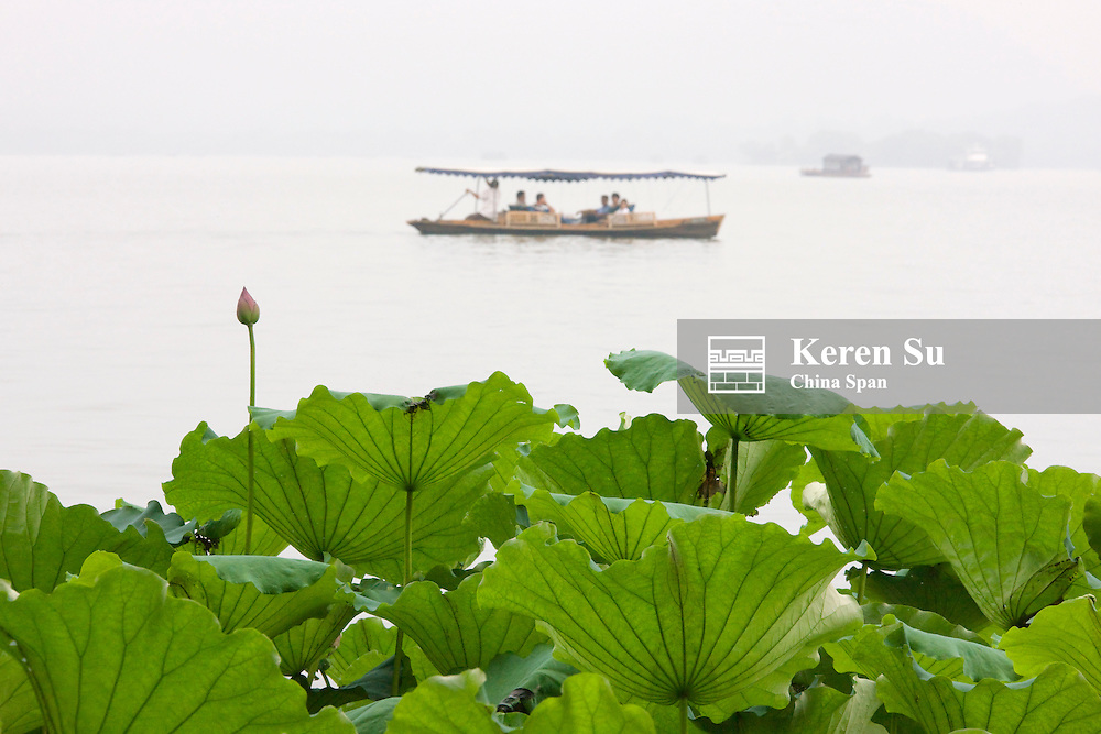 Boat on West Lake, Hangzhou, Zhejiang, China
