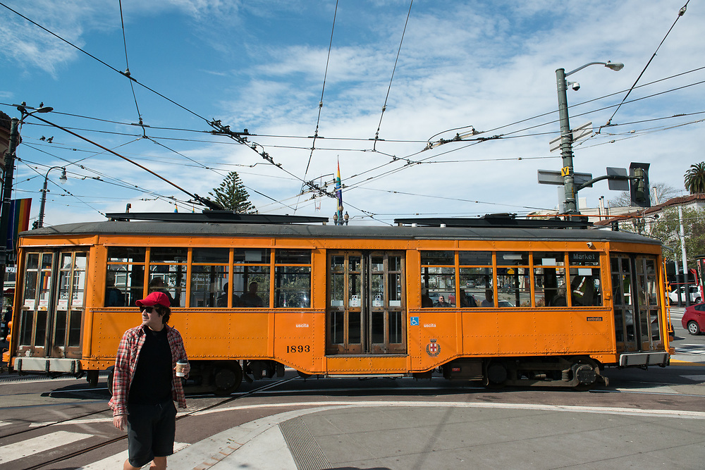 Milan Streetcar 1893 on Market and 17th   March 15, 2017