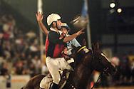 horse ball players fighting for ball, World horseball championship, La Rural Buenos Aires, Argentina 2006, copa Cardon