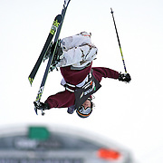 SHOT 12/17/10 4:22:05 PM - Noah Bowman of Calgary, Canada competes during qualifiers for the Ski Superpipe event during the Nike 6.0 Open stop of the Winter Dew Tour at Breckenridge Ski Resort in Breckenridge, Co. The event features ski and snowboard slopestyle and superpipe. (Photo by Marc Piscotty / © 2010)
