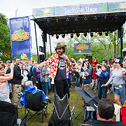 Langhorne Slim performing at the Old Settler's Bluegrass Festival, Austin, Texas, April 17, 2015.