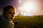 Melissa watches Independence Day fireworks in Eastlake, Ohio on July 4, 2006.