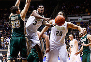 WEST LAFAYETTE, IN - DECEMBER 29: Ronnie Johnson #3 of the Purdue Boilermakers loses the ball as he shoots against Kyle Gaillard #23 of the William & Mary Tribe at Mackey Arena on December 29, 2012 in West Lafayette, Indiana. Purdue defeated William & Mary 73-66. (Photo by Michael Hickey/Getty Images) *** Local Caption *** Ronnie Johnson; Kyle Gaillard