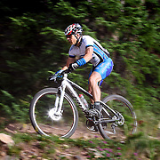 SHOT 8/19/11 9:03:33 AM - The final day of racing in The Breck Epic in Breckenridge, Co. The event is a 6-day ultra-endurance mountain bike stage race held in the sprawling backcountry surrounding the town of Breckenridge, Co. The course is 240 miles and features a combined 38,000 feet of climbing, 90% of which is above 10,000 feet. More than 200 riders from 15 different countries participated in the race. (Photo by Marc Piscotty / © 2011)