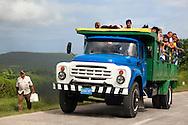 Russian truck in Floro Perez, Holguin, Cuba.