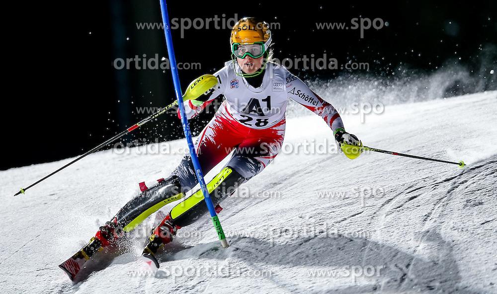 13.01.2015, Hermann Maier Weltcupstrecke, Flachau, AUT, FIS Weltcup Ski Alpin, Flachau, Slalom, Damen, 1. Lauf, im Bild Christina Ager (AUT) // Christina Ager of Austria in action during 1st run of the ladie's Slalom of the FIS Ski Alpine World Cup at the Hermann Maier Weltcupstrecke in Flachau, Austria on 2015/01/13. EXPA Pictures © 2015, PhotoCredit: EXPA/ Johann Groder