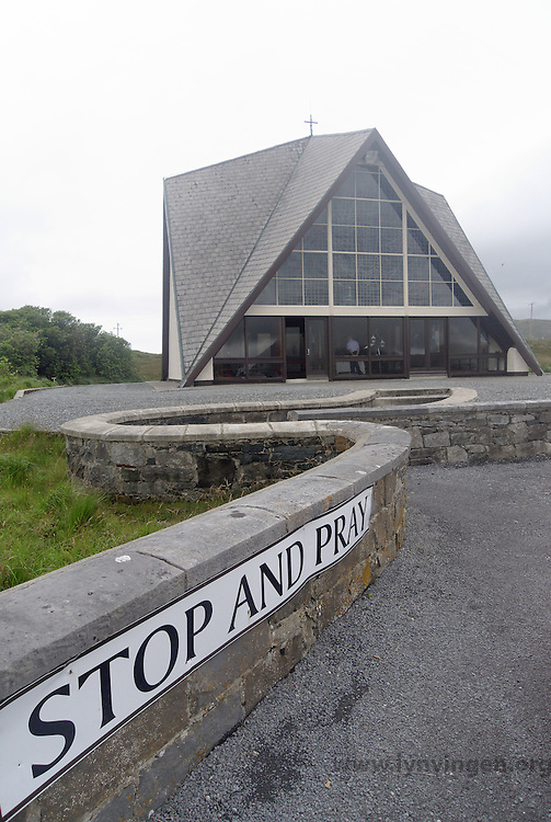 "Church in Ireland with sign: ""Stop and pray"""