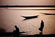 Mali, May 2009. Village life along the river Niger.