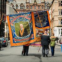 """Orangemen and women march in controversial Orange Order event dubbed """"Orangefest""""  in Glasgow on June 6th 2015."""